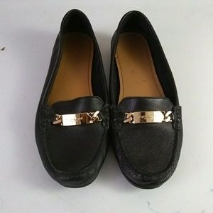 Coach Black Leather Loafers